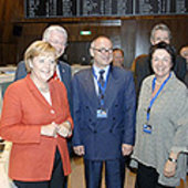 Chancellor and guests in ESOC MCR