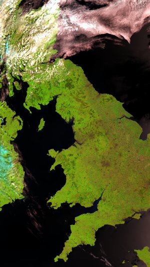 Envisat captures a virtually cloudless UK