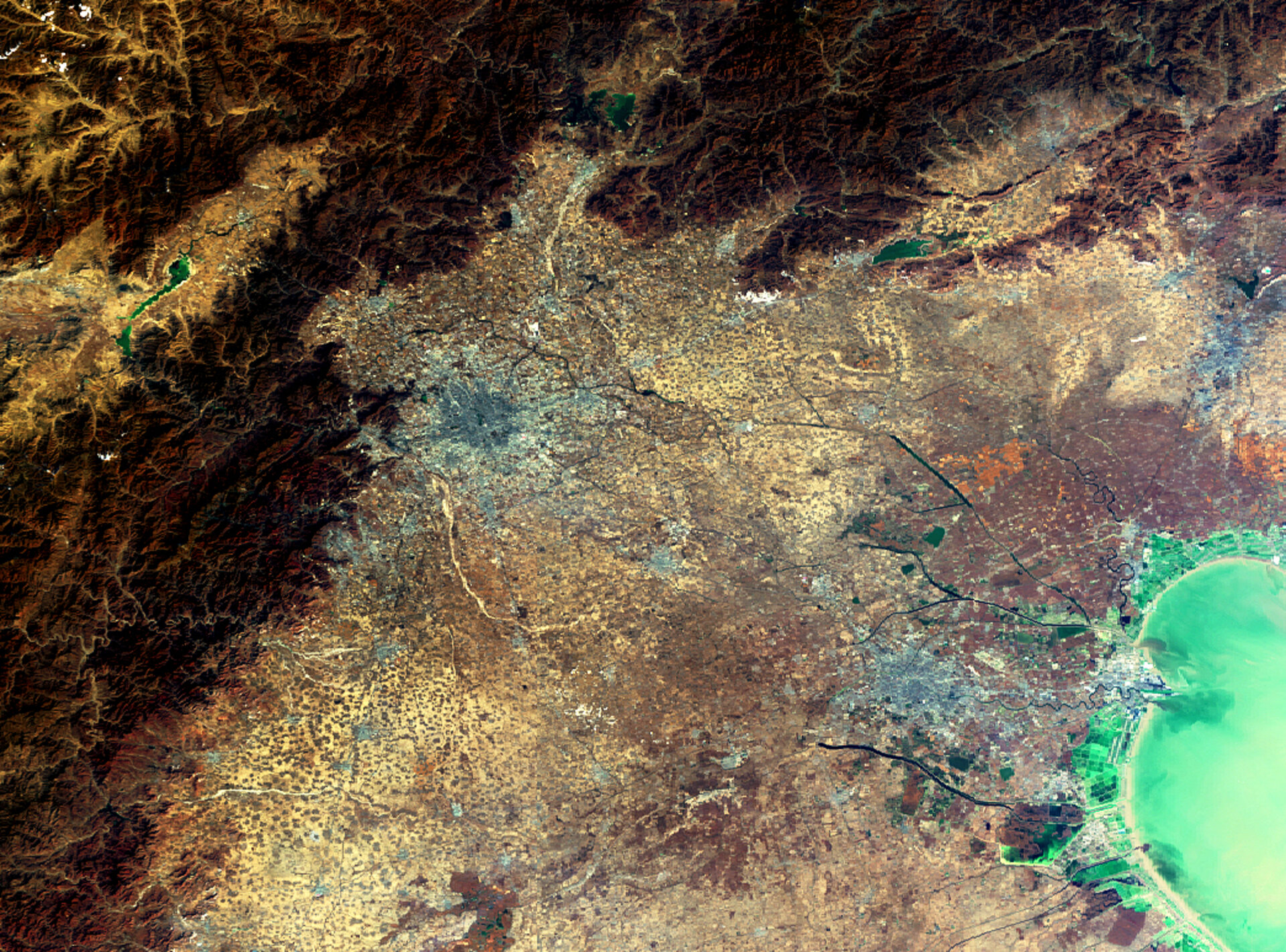 Envisat image of the Beijing area, China