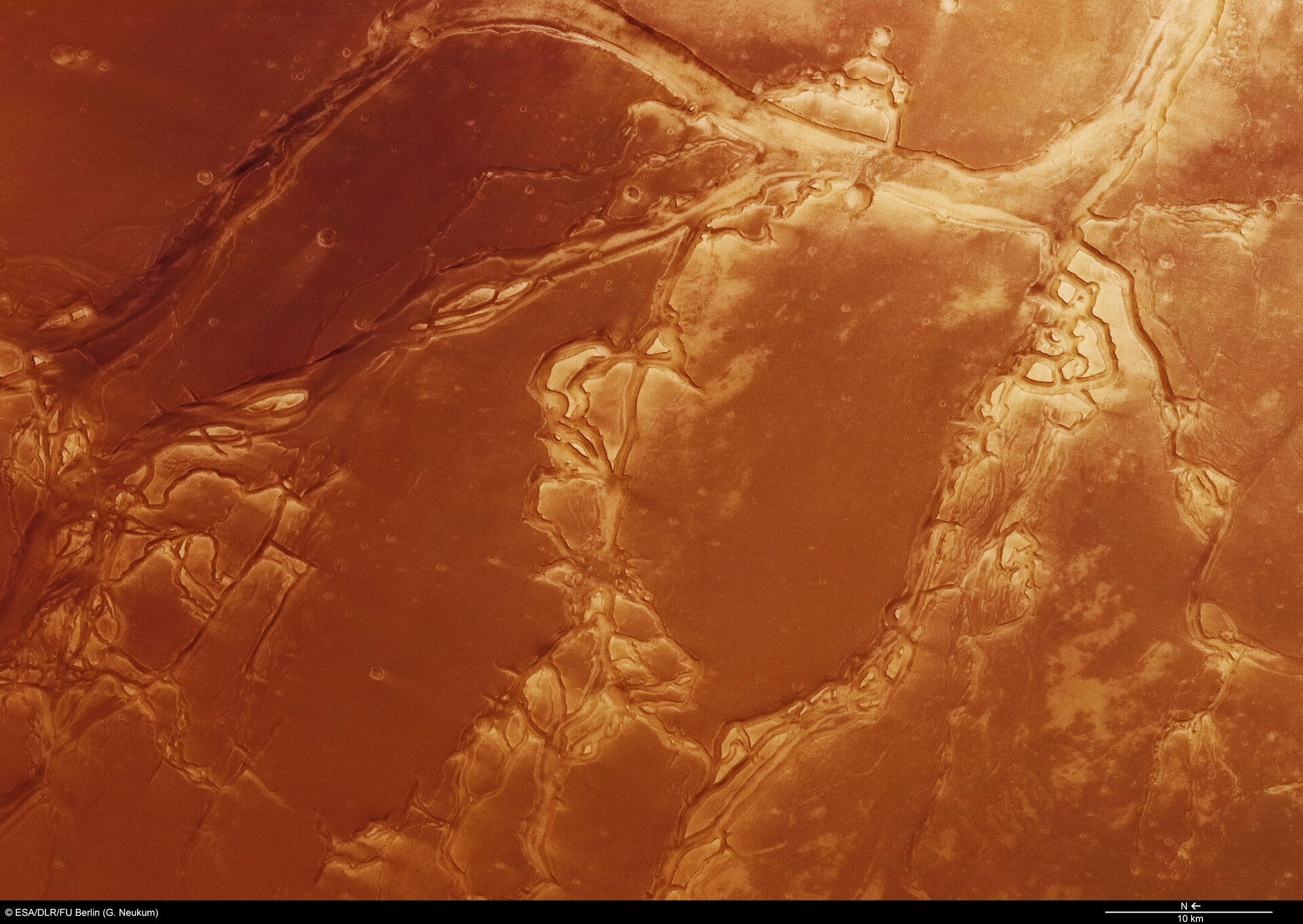 Granicus Valles and Tinjar Valles