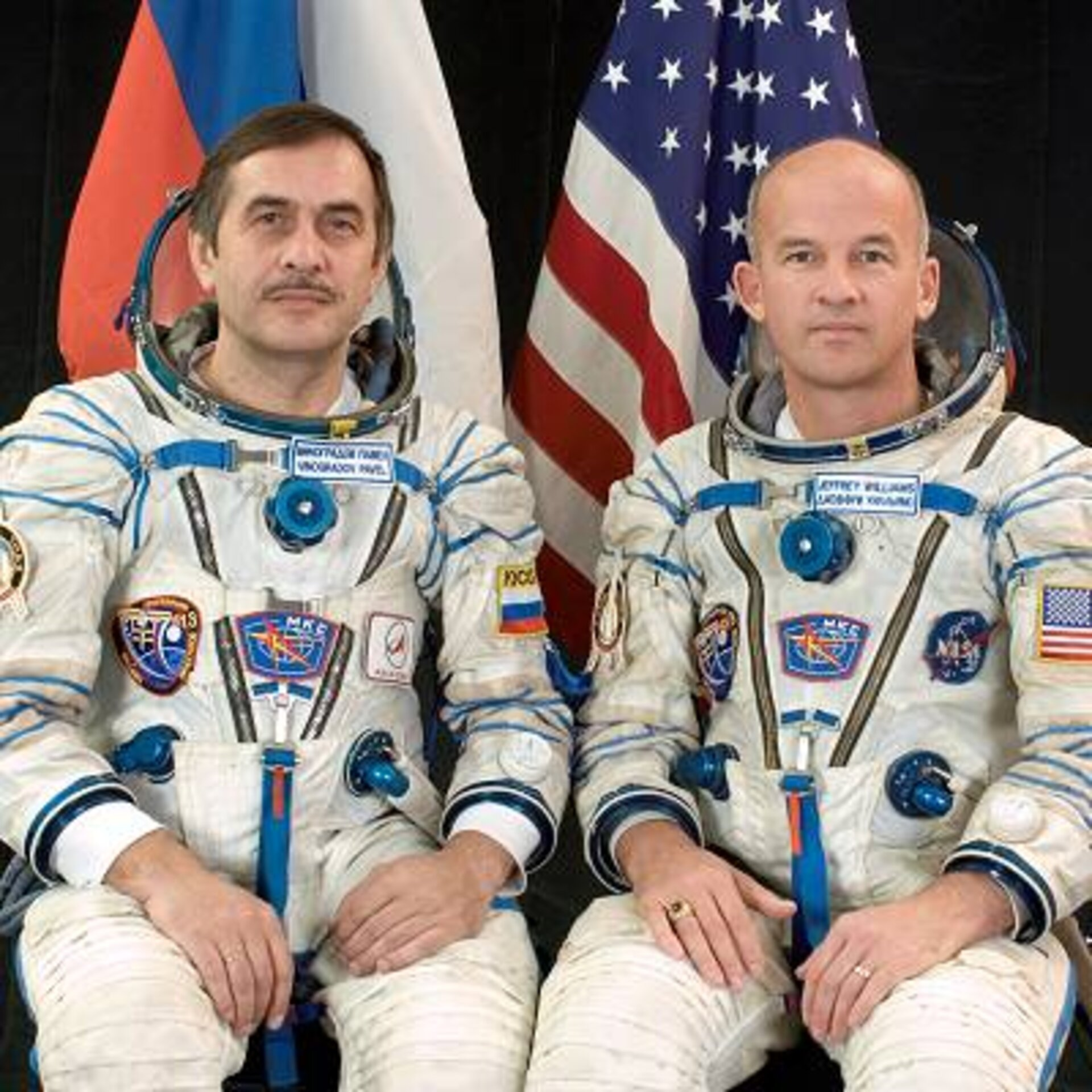 ISS Expedition 13 crew - Pavel Vinogradov and Jeffrey N. Williams
