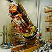 MetOp manoeuvred into position for encapsulation