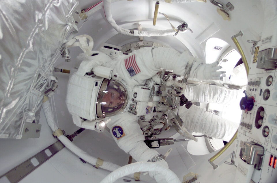 Reiter and Williams will start their spacewalk from the Joint Airlock Quest