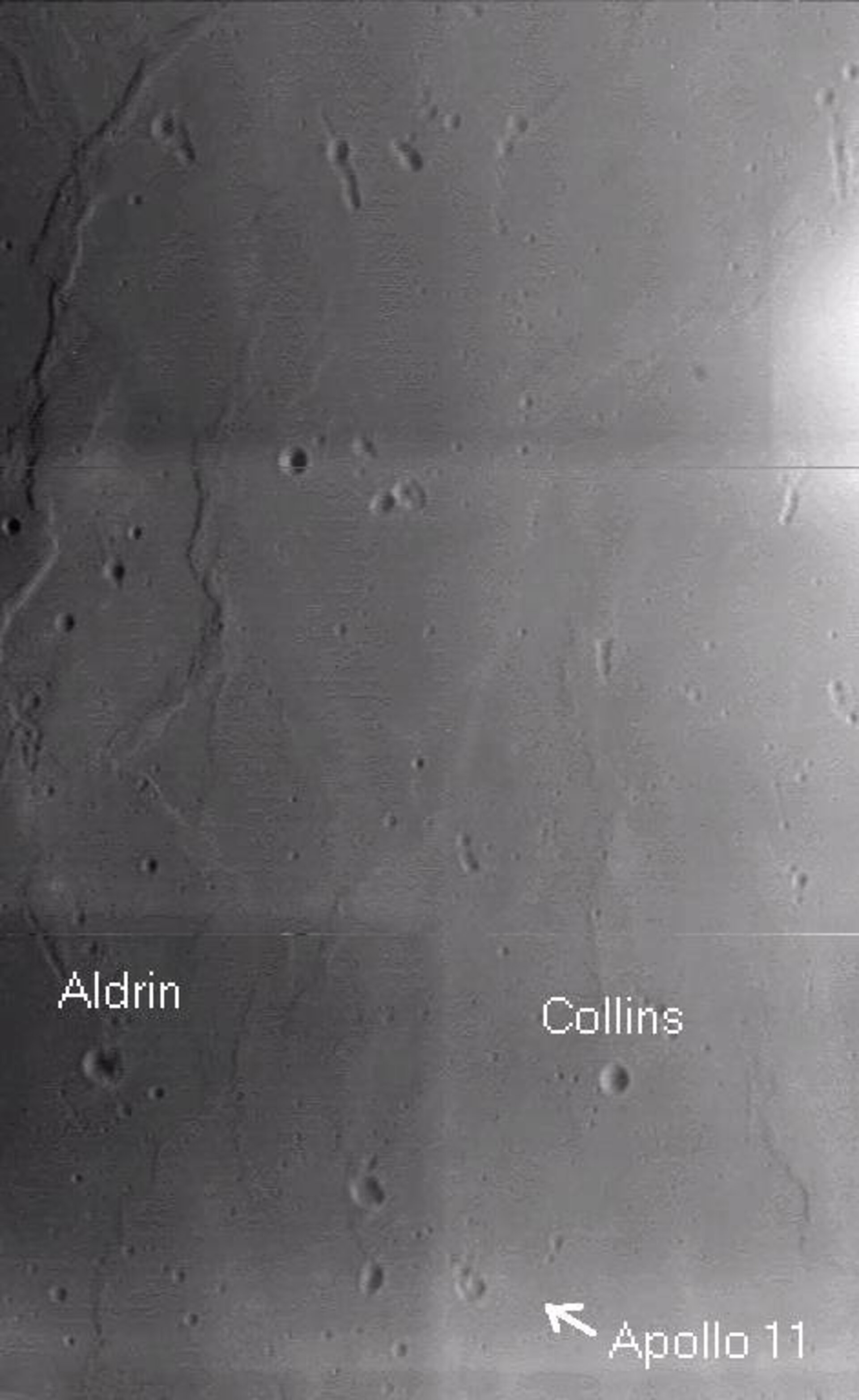 SMART-1 postcard of Apollo 11 landing site