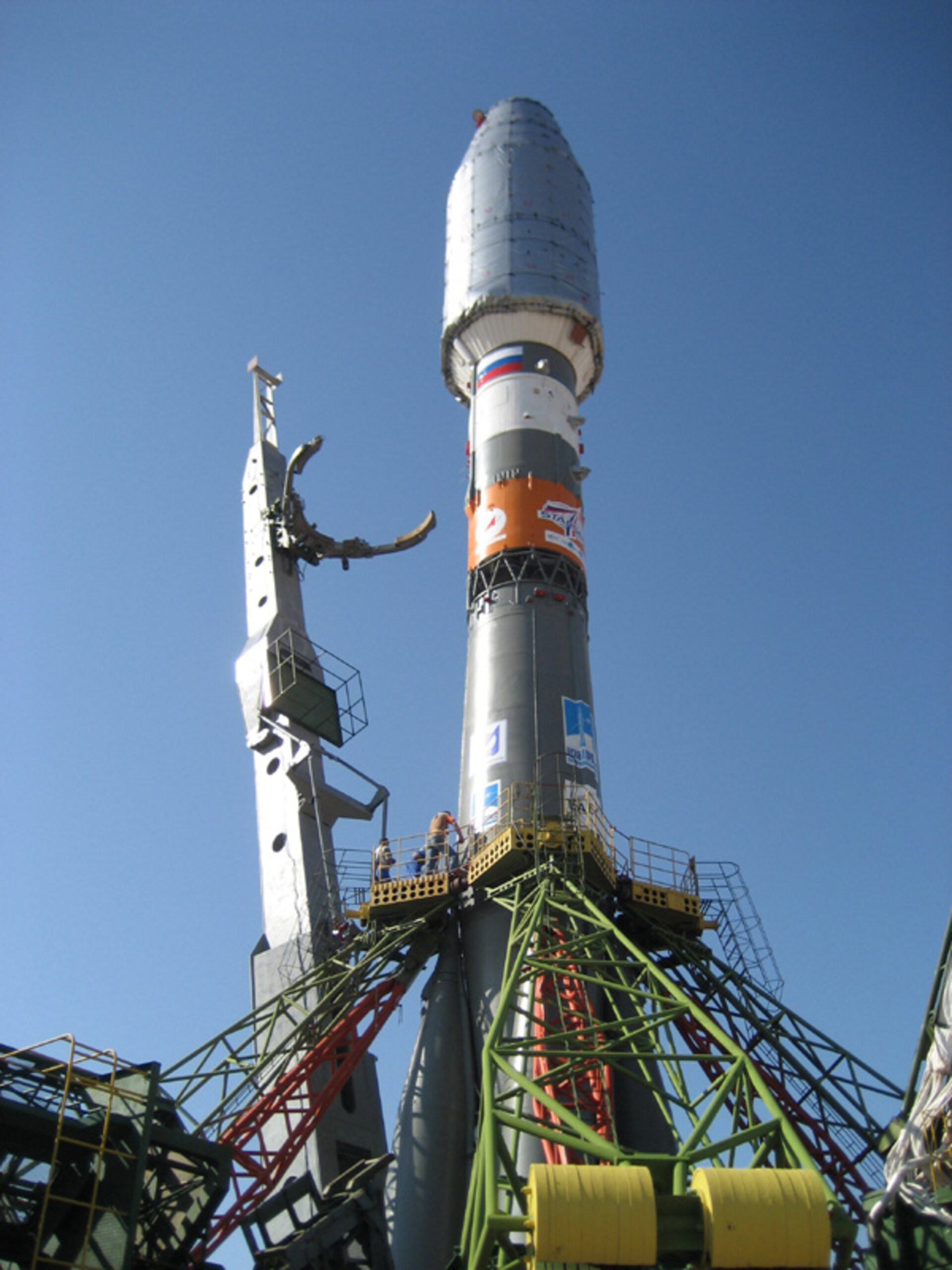 Soyuz on the launch pad