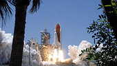 Space Shuttle Discovery lifts off