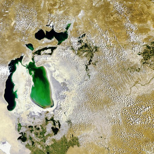 The Aral Sea as seen by Envisat