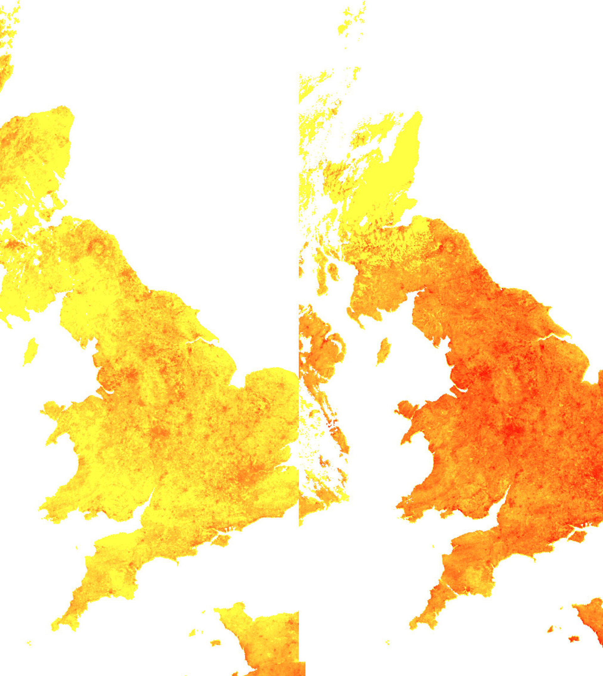UK heat maps