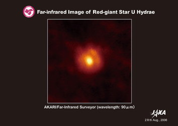 AKARI's far-infrared image of red-giant star U Hydrae