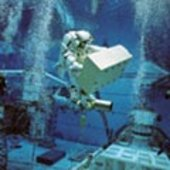 Fuglesang during underwater EVA training