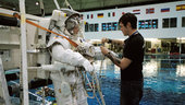 Fuglesang prepares for underwater EVA training