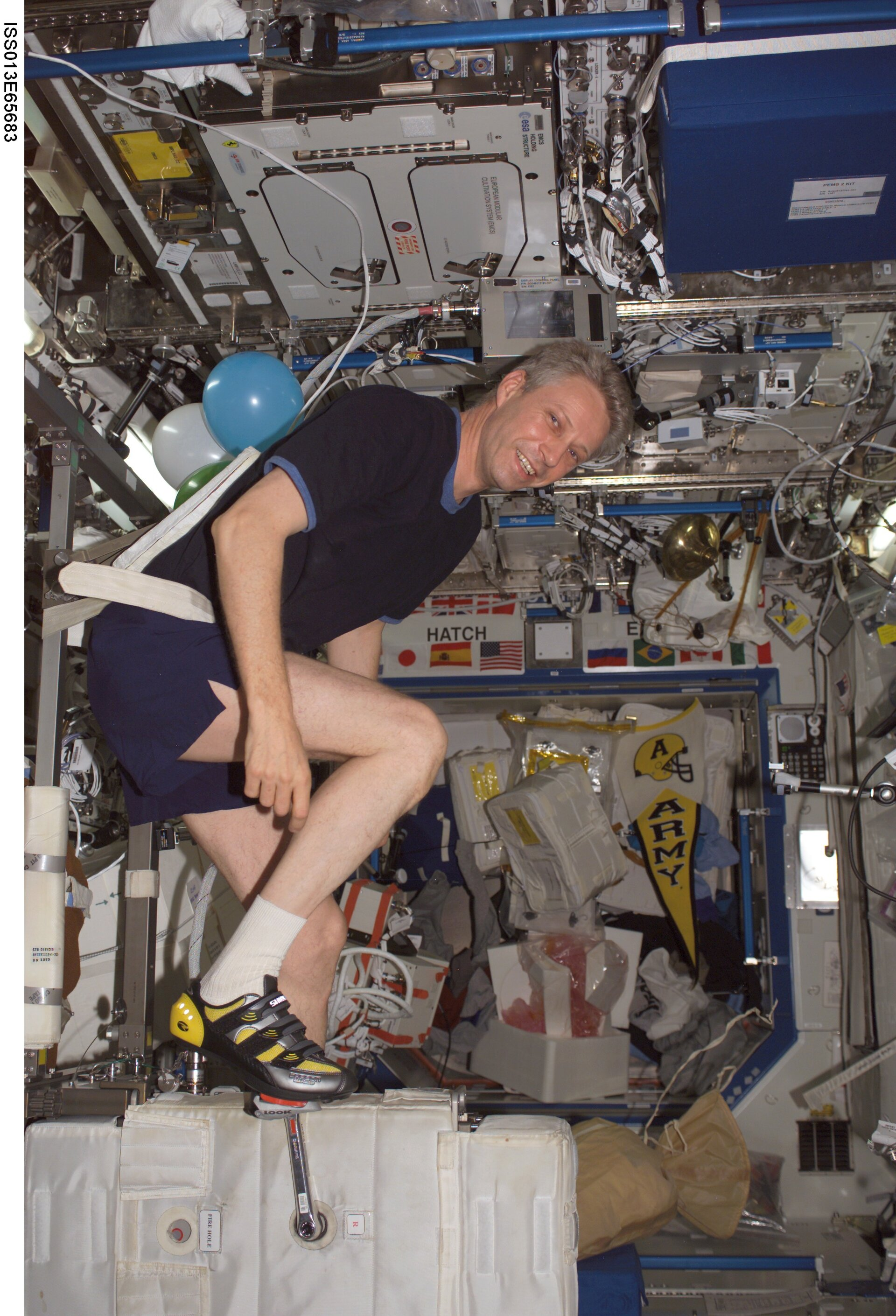 Exercising on board the ISS