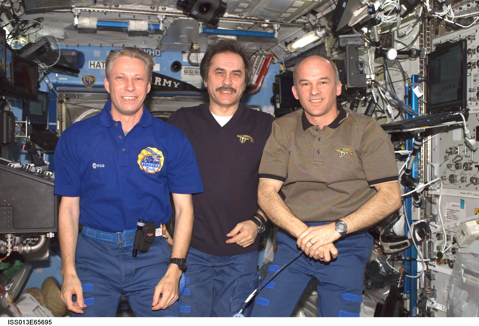 Expedition 13 crew: Thomas Reiter, Pavel Vinogradov and Jeff Williams