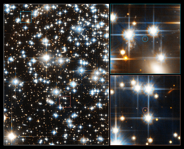 Hubble's view of faintest stars in ancient star cluster