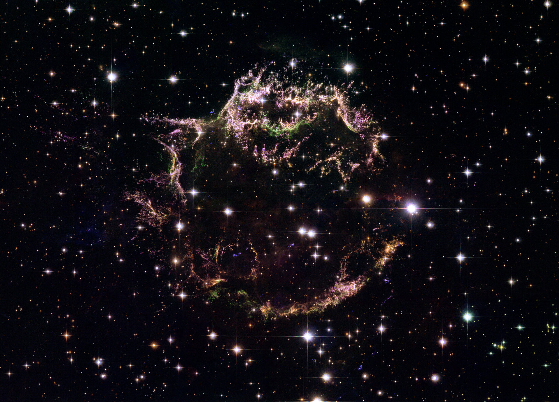 Hubble's view of supernova explosion Cassiopeia A