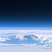 View of atmosphere from ISS