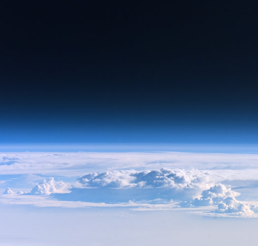 Looking through the Earth's atmosphere from on board ISS
