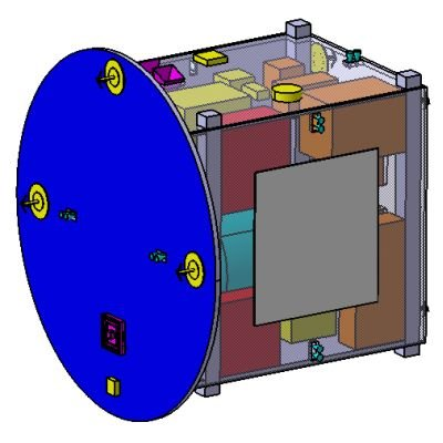 Preliminary design for the smaller of the two Proba-3 spacecraft