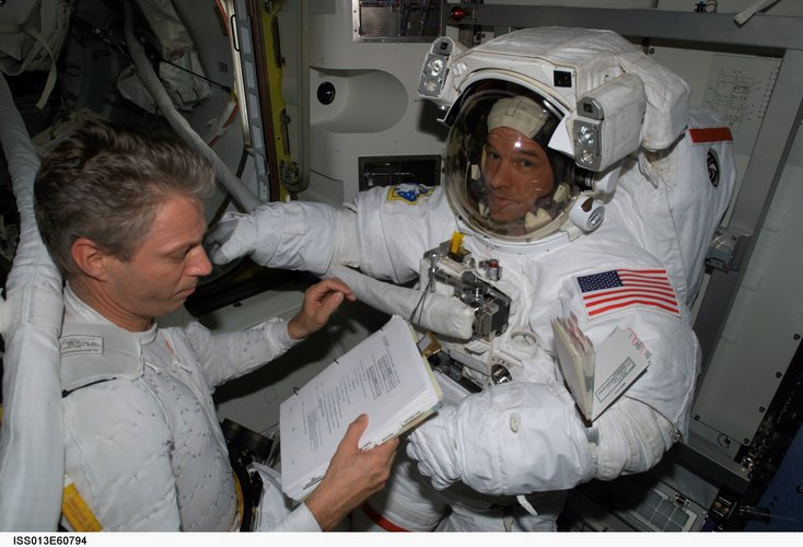 Preparing for an extravehicular activity (EVA)