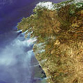Raging fires across Spain and Portugal