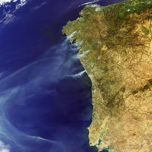Raging fires in Spain and Portugal