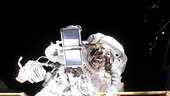 Thomas Reiter during ISS spacewalk