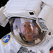 Thomas Reiter during ISS EVA