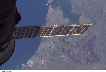 View of the Netherlands seen from the International Space Station