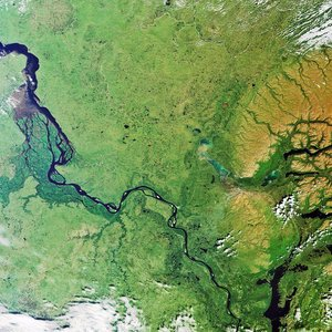 Yenisei River, Siberia, captured by Envisat