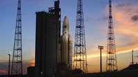 Ariane 5 at sunset