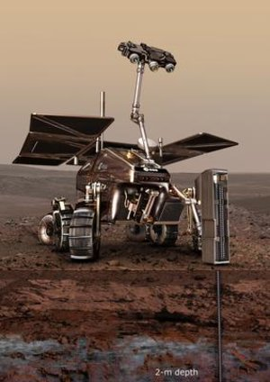 Artist's impression of the ExoMars rover