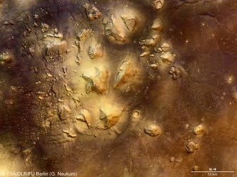 Cydonia region, colour image