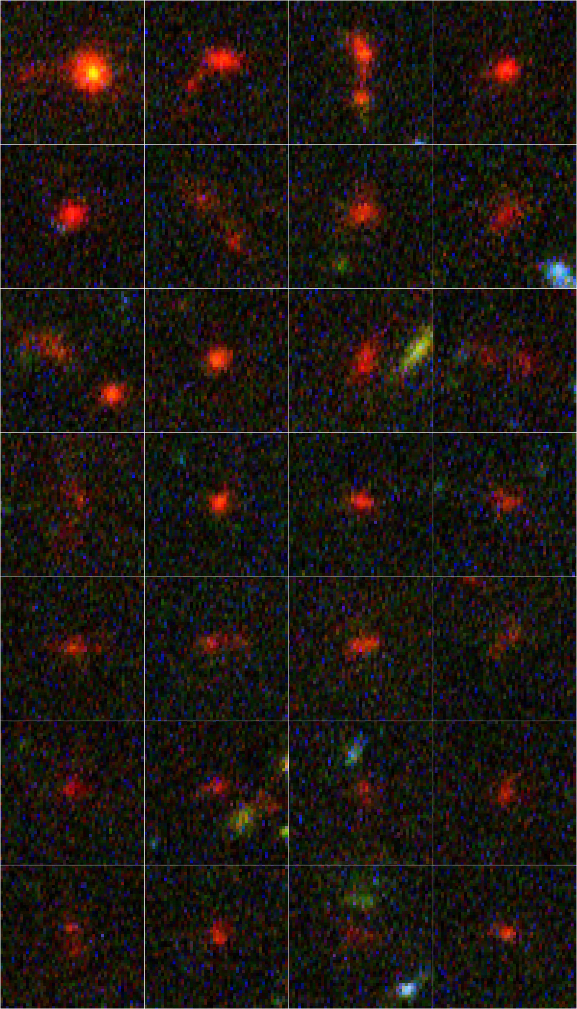 Details of individual distant galaxies