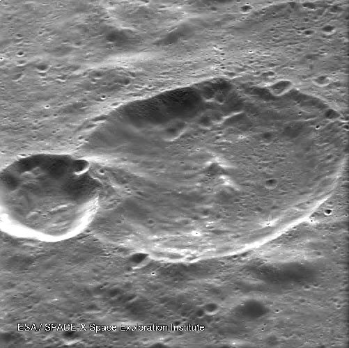Double crater on the Moon