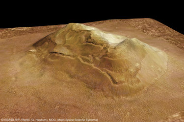 'Face on Mars' in Cydonia region, perspective