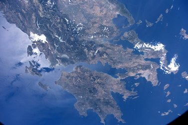 Greece as seen from the ISS