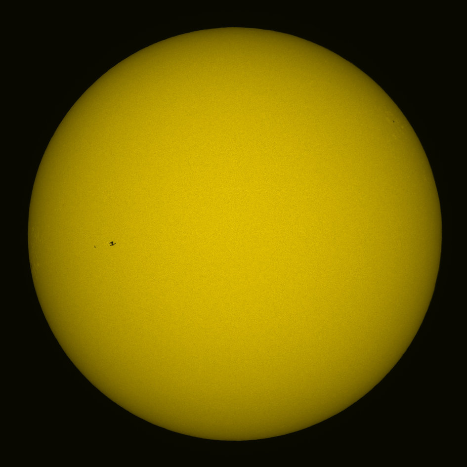 ISS transit in front of Sun