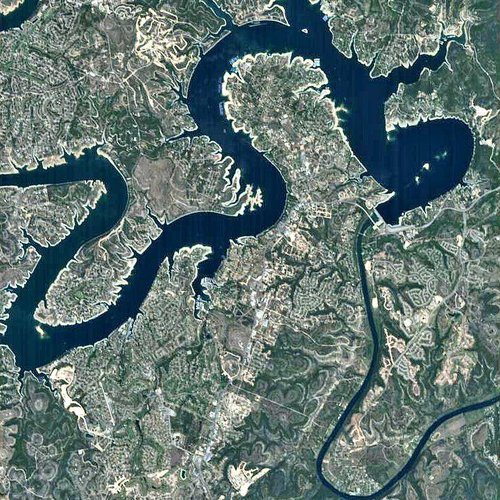Lake Travis, Texas, as seen by Proba satellite