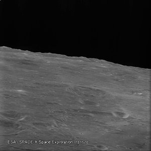 Lunar horizon as seen by SMART-1