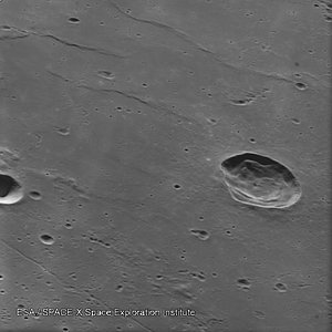 Lunar surface seen by SMART-1 close to impact