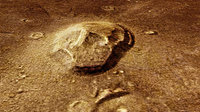 'Skull-shaped' formation in Cydonia region