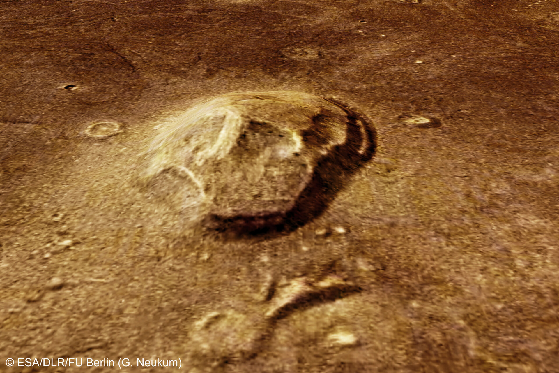 Naturally 'skull-shaped' formation in Cydonia region