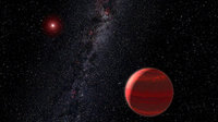 Red dwarf star CHRX 73 and companion object