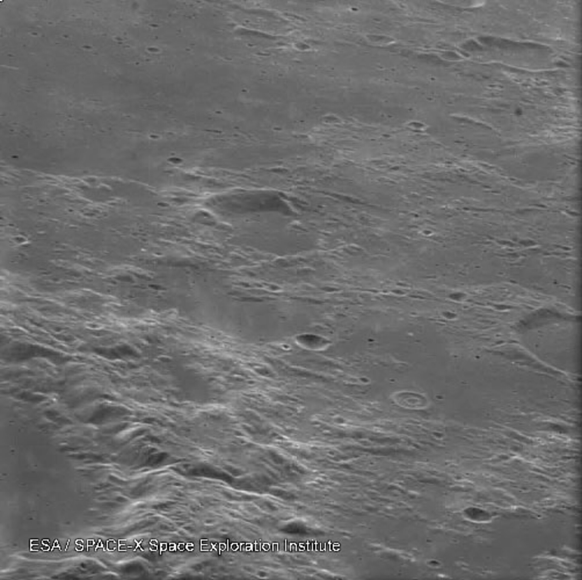 SMART-1 view of lunar surface
