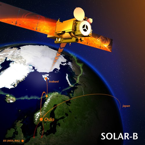 SvalSat ground coverage of Hinode (Solar-B)