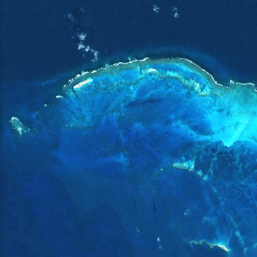 The French Frigate Shoals as seen by Proba-1