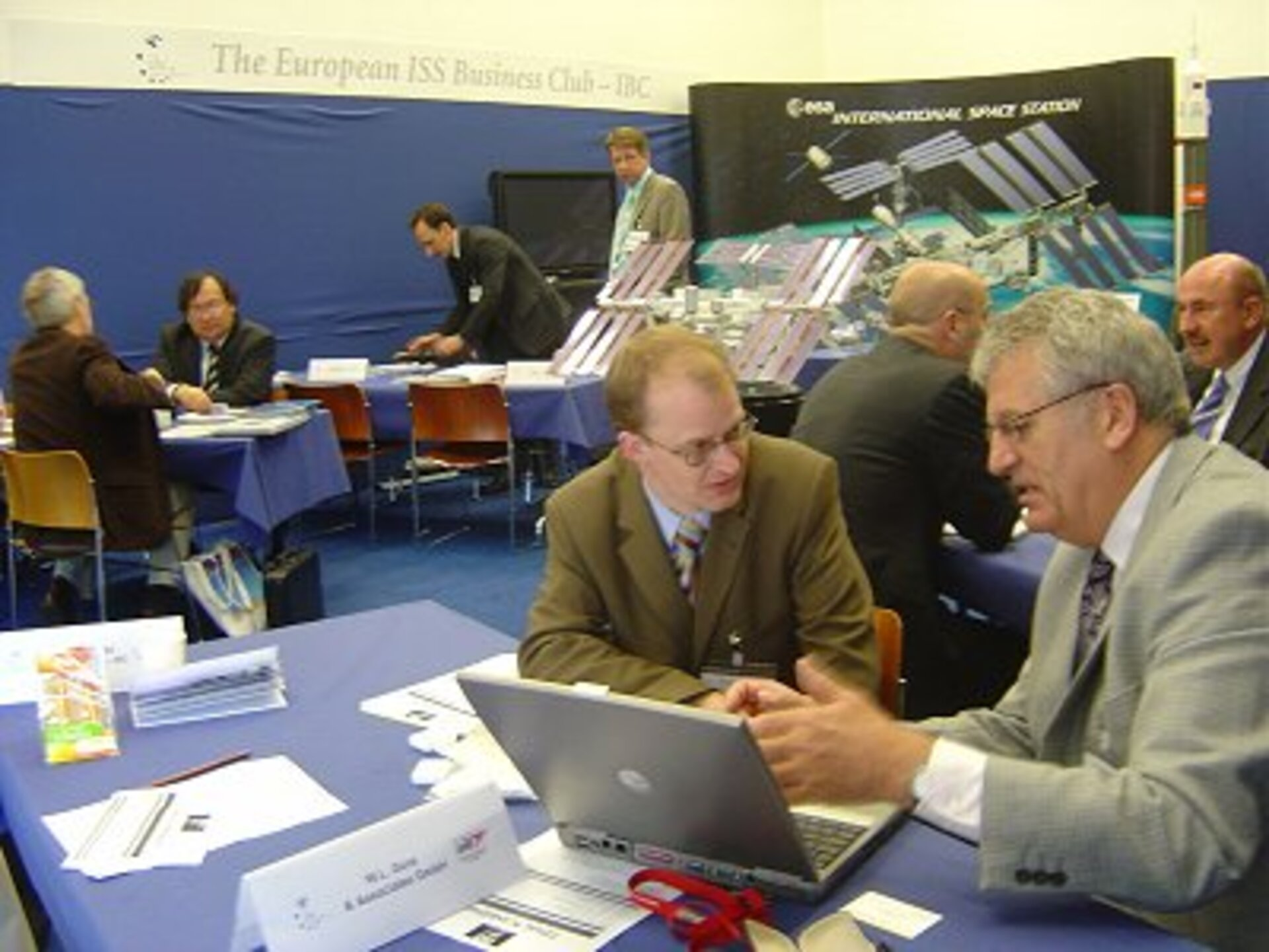 The IBC booth at the Industry Space Days 2006