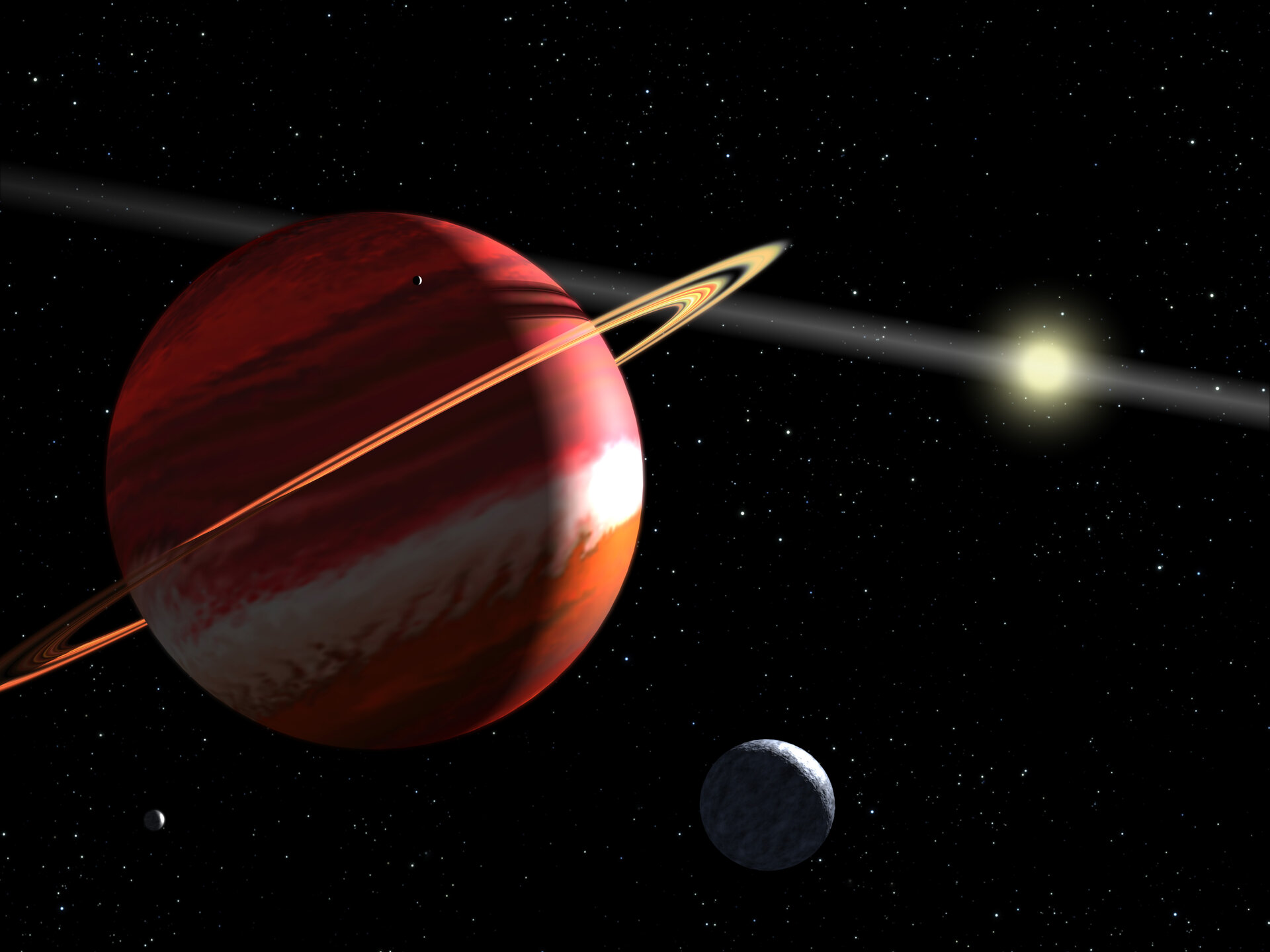 Artist's concept of nearest exoplanet to our Solar System