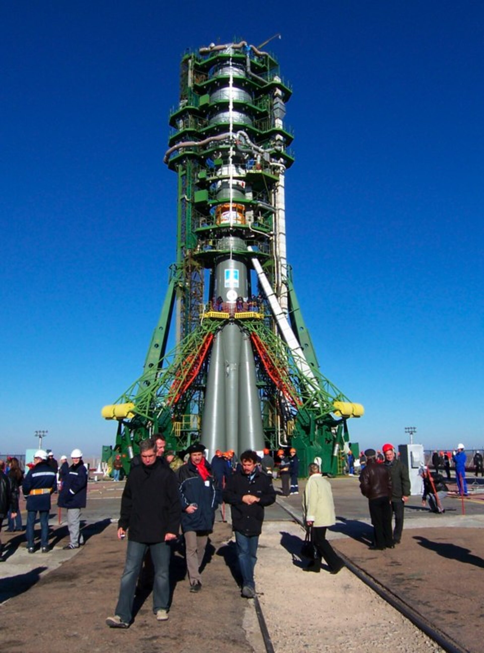 MetOp-A on the launch pad in Baikonur