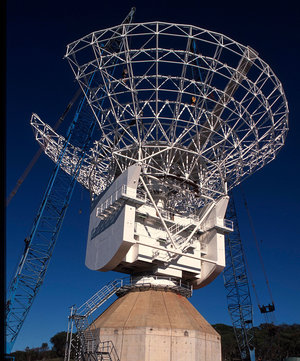 ESA's antenna at New Norcia, Western Australia, under construction in 2002